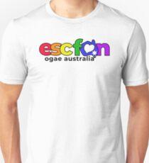 ESCFAN -OGAE Australia Logo (Pride, Black) Slim Fit T-Shirt