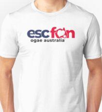ESCFAN -OGAE Australia Logo (Black & White) Slim Fit T-Shirt