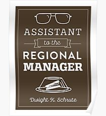 The Office Dunder Mifflin - Assistant to the Regional Manager Poster