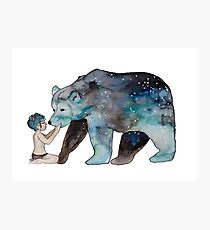 Babe & Bear Photographic Print