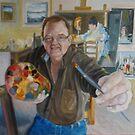Self portrait in studio (Unfinished) by Ken Tregoning