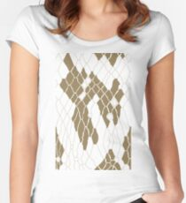 Animal Skin Women's Fitted Scoop T-Shirt