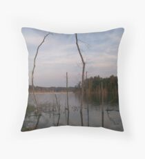 Dead Trees - Lake Okhissa Mississippi Throw Pillow