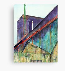 Patea Freezing Works: Old Pipes IV Canvas Print