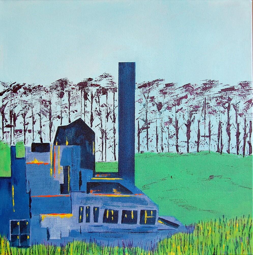 Patea Freezing Works: Lights on, no one home XV by Cath Sheard
