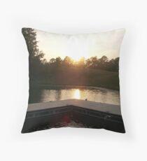 Sunslip - Lake Okhissa Mississippi Throw Pillow