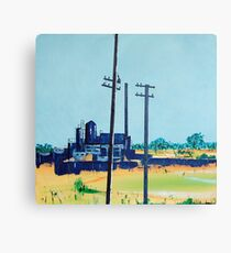 Patea Freezing Works: On the grid Canvas Print