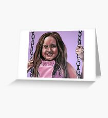 """Portrait Of Ella"" Greeting Card"