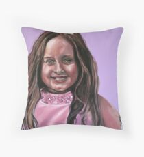 """Portrait Of Ella"" Throw Pillow"