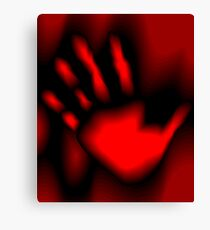 Digital image of a red hand Canvas Print