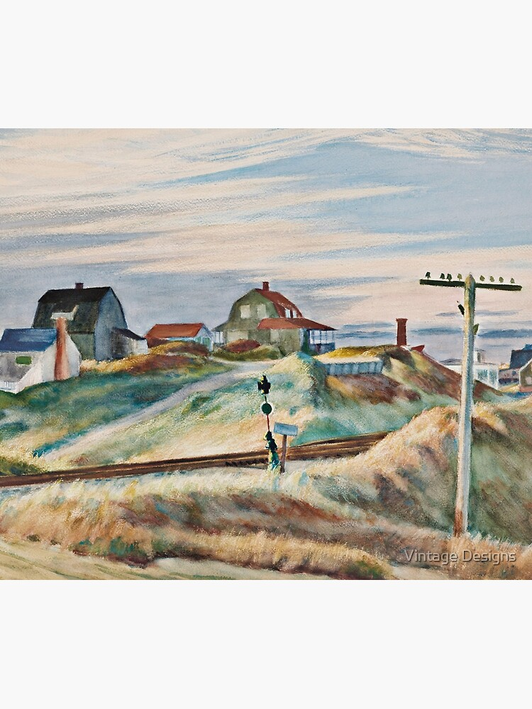 cottages at north truro - Edward Hopper by Geekimpact