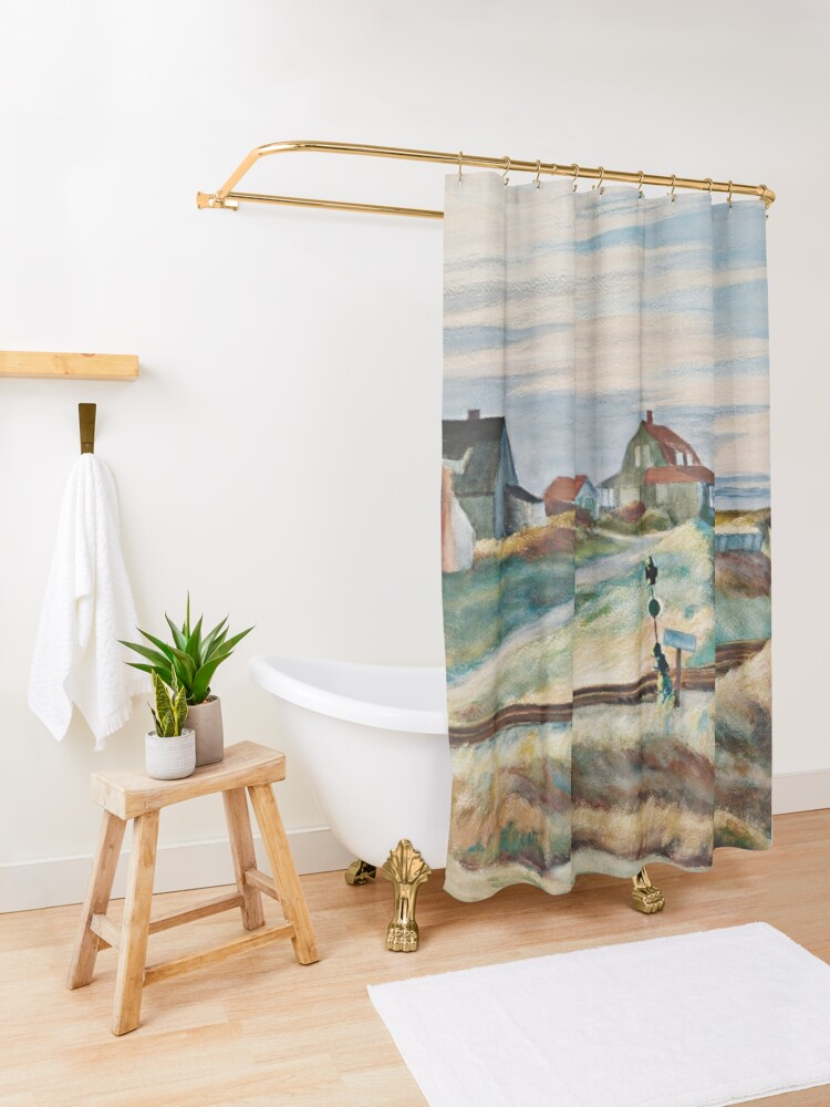 Alternate view of cottages at north truro - Edward Hopper Shower Curtain