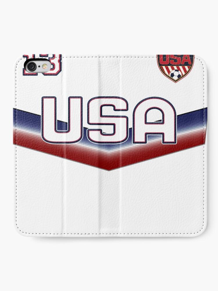Alternative Ansicht von USA Soccer Female Team Nummer 13 iPhone Flip-Case