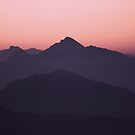 Color Gradient Mountains by ArtPrInk
