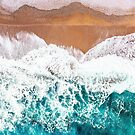 Aerial Beach Turquoise by ArtPrInk