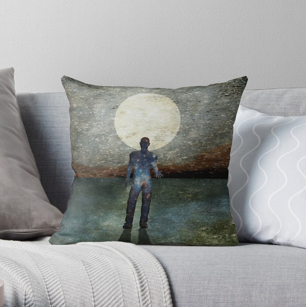 Second State Of Dreams (Full Moon) Throw Pillow