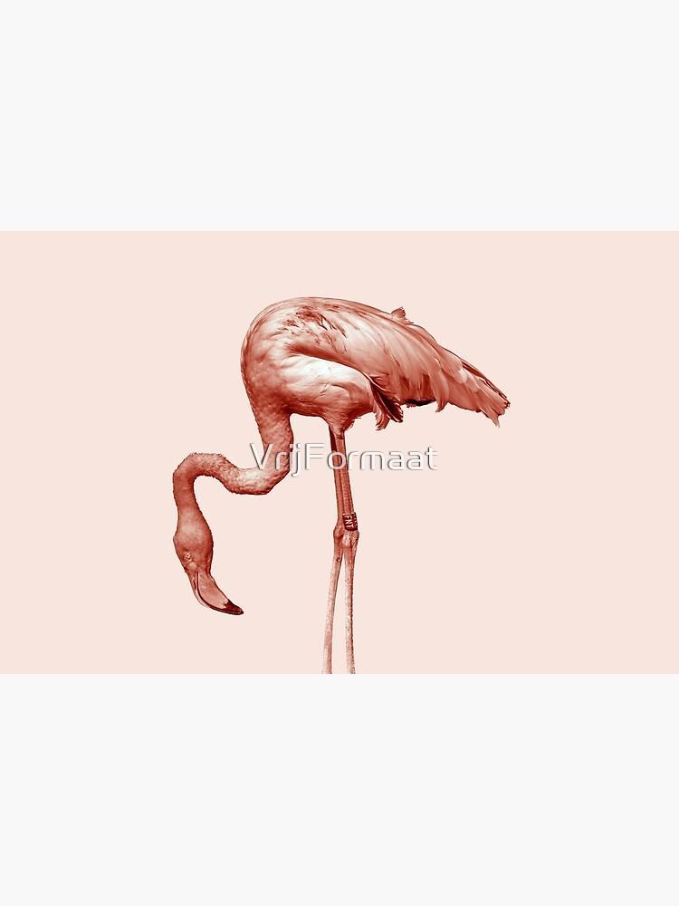Monochrome - pink flamingo nr2 by VrijFormaat
