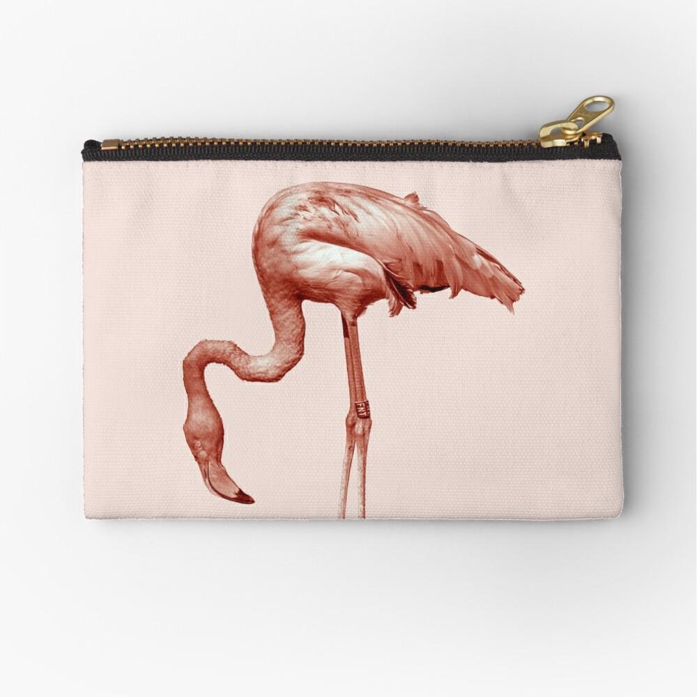 Monochrome - pink flamingo nr2 Zipper Pouch