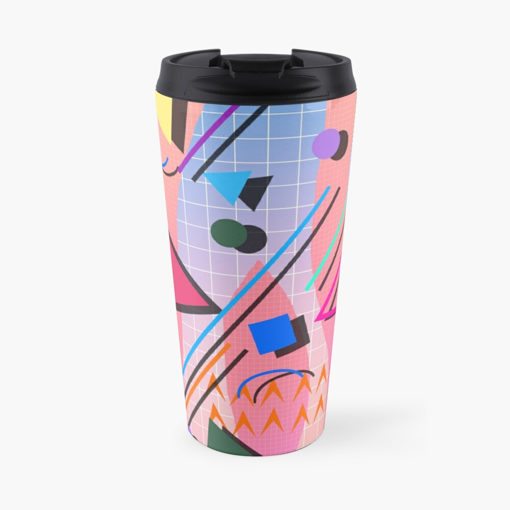 80s pop retro pattern 2 Travel Mug