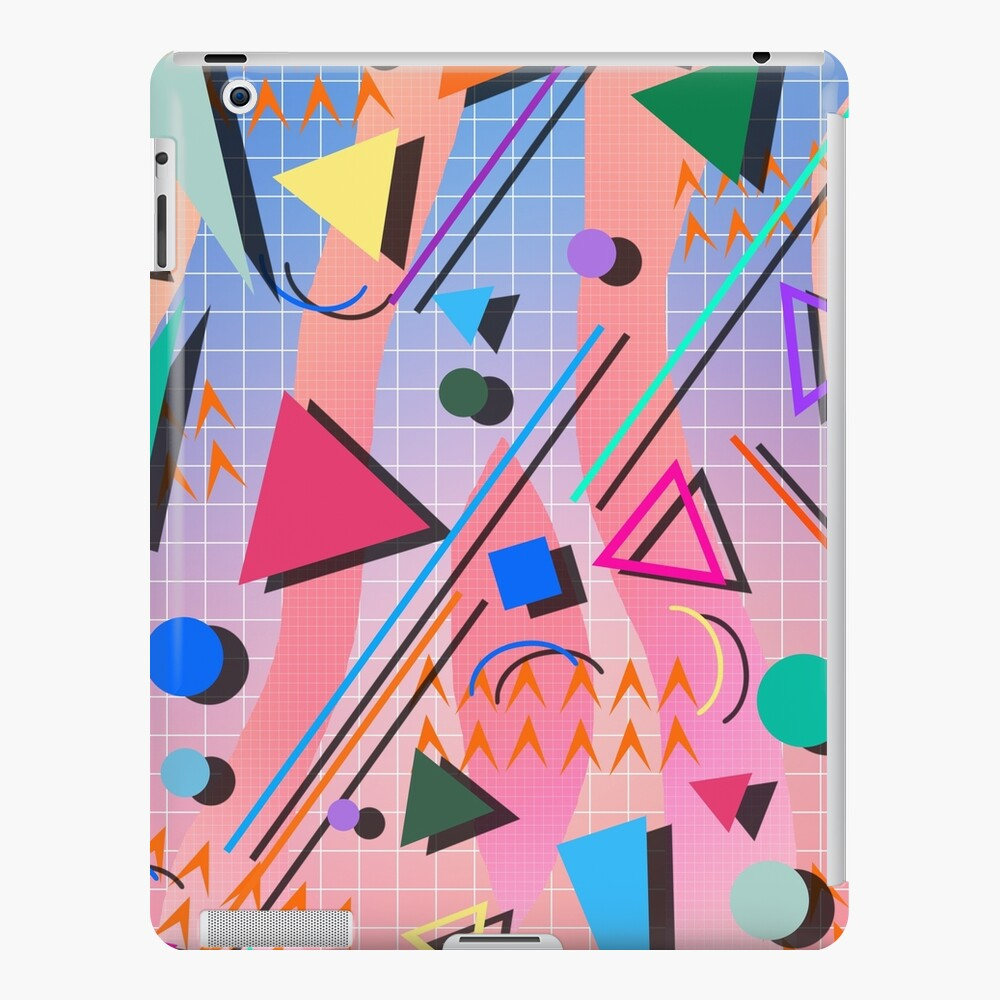 80s pop retro pattern 2 iPad Case & Skin