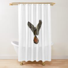 Forest Red-tailed Black Cockatoo (Karrak) Shower Curtain