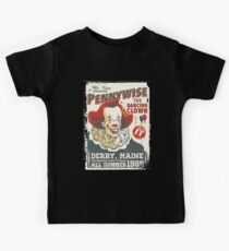 The Dancing Clown - Stephen King - Vintage Distressed Circus Kids T-Shirt