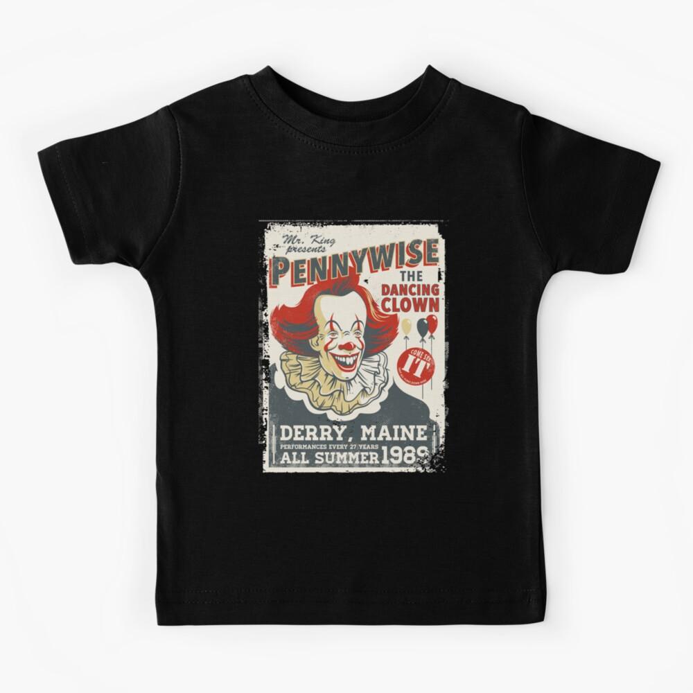 The Dancing Clown - Stephen King - Vintage Distressed Circus Kids T-Shirt