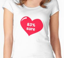 83% sure Women's Fitted Scoop T-Shirt