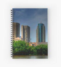 Winnipeg Skyline Spiral Notebook