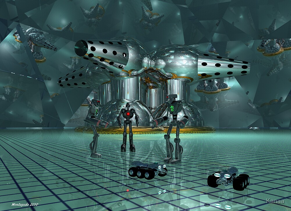Little lost robots by Kanaa