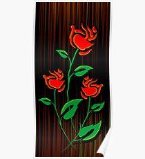 Digital images of rose Poster