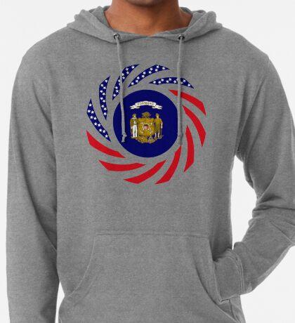 Wisconsin Murican Patriot Flag Series Lightweight Hoodie