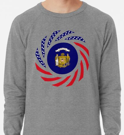 Wisconsin Murican Patriot Flag Series Lightweight Sweatshirt