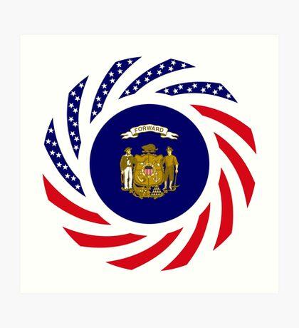 Wisconsin Murican Patriot Flag Series Art Print