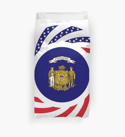 Wisconsin Murican Patriot Flag Series Duvet Cover