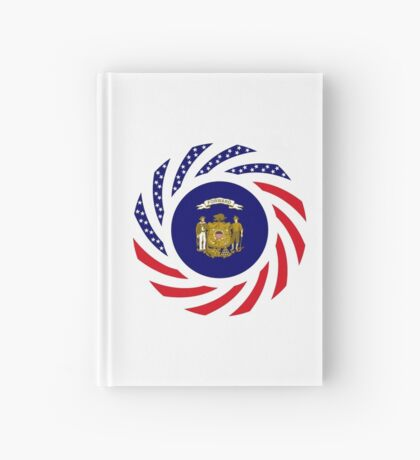 Wisconsin Murican Patriot Flag Series Hardcover Journal