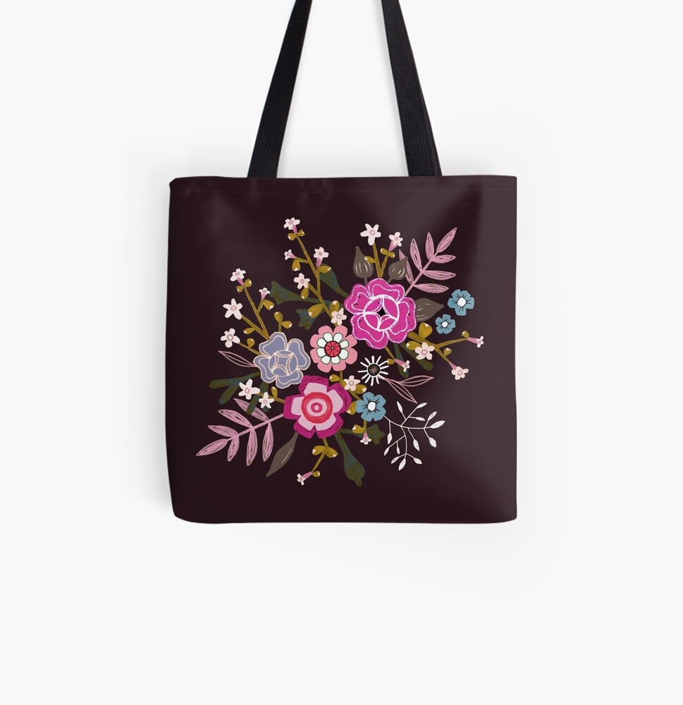 Bouquet All Over Print Tote Bag