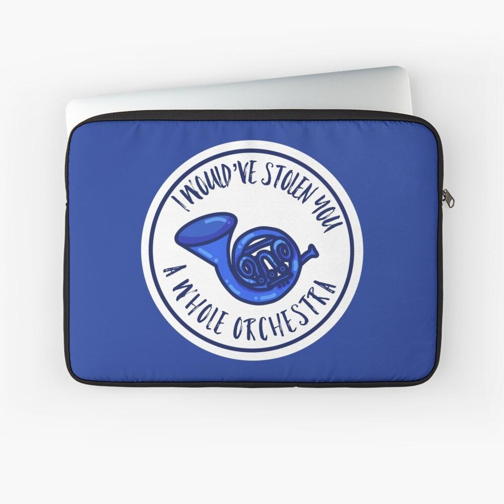 Blaues Waldhorn Laptoptasche