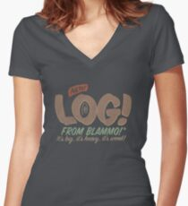 All New LOG!! Women's Fitted V-Neck T-Shirt