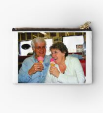 Enjoying a Good Laugh Together Studio Pouch