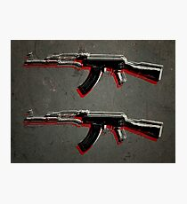 AK47 Assault Rifle Pop Art Photographic Print