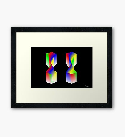 Twisted Twin Towers Framed Print