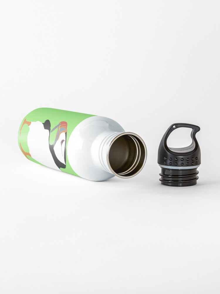 Alternate view of Puffins in green Water Bottle