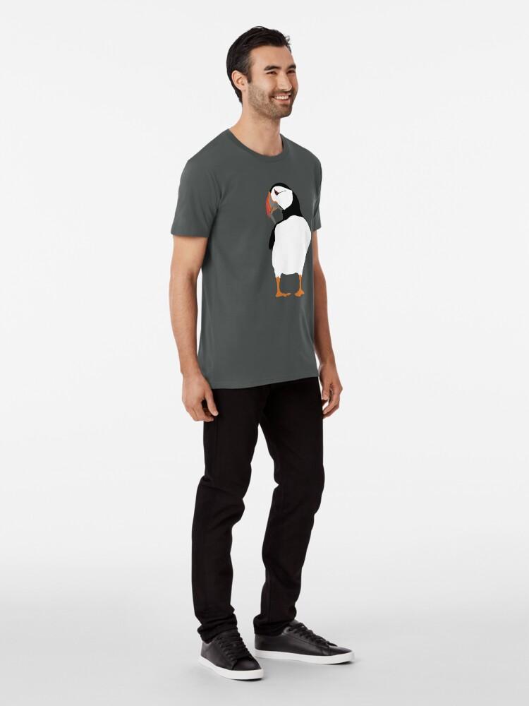 Alternate view of Puffins in green Premium T-Shirt