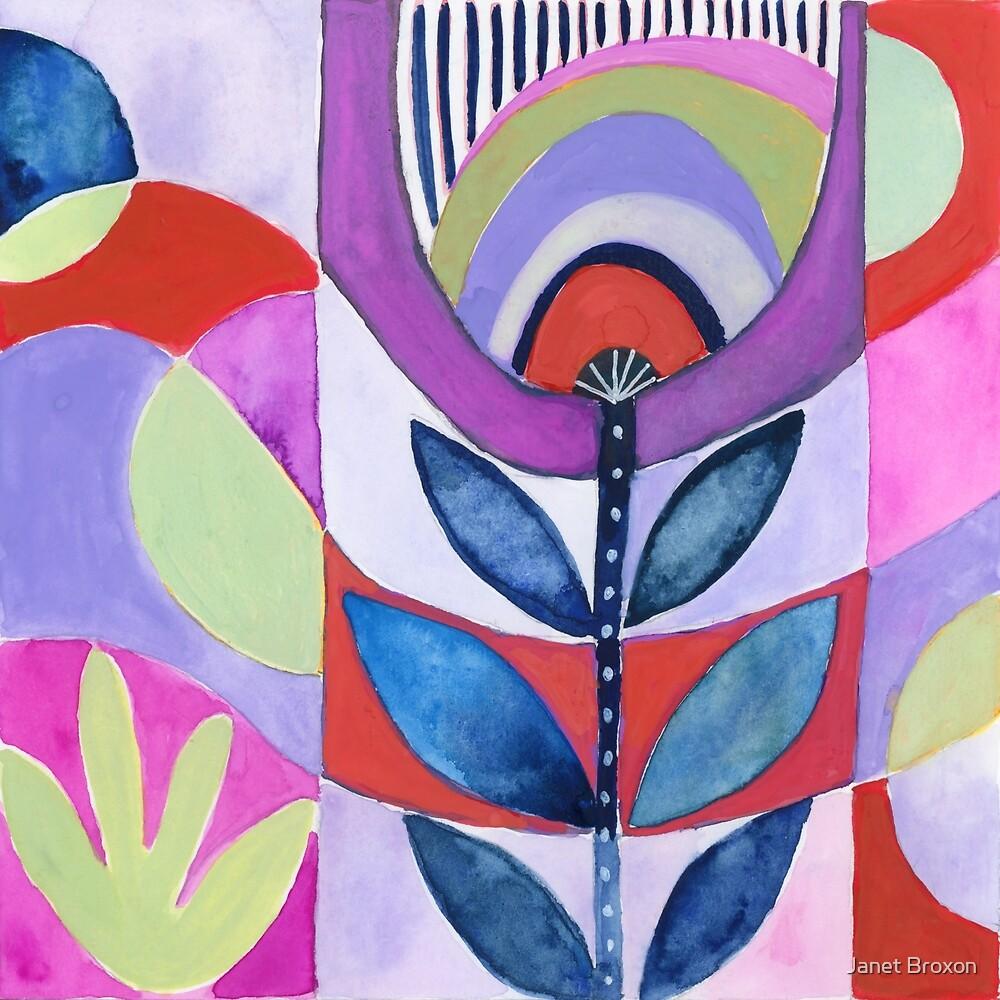 Purple Tulip by Janet Broxon