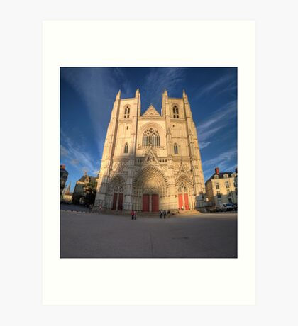 Cathedrale de Nantes Art Print