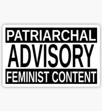 Feminist Content version 1 Sticker