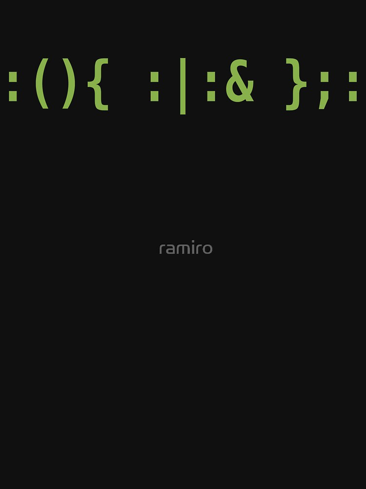 Bash Fork Bomb - Light Green Text for Unix/Linux Hackers by ramiro
