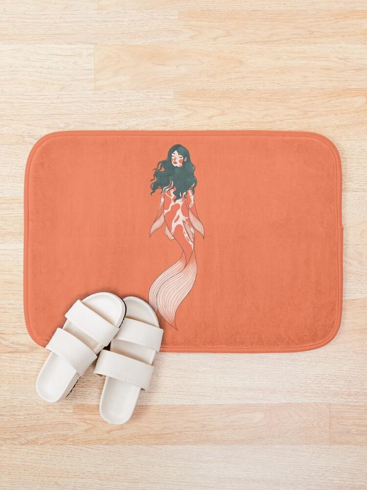Alternate view of Koi mermaid Bath Mat