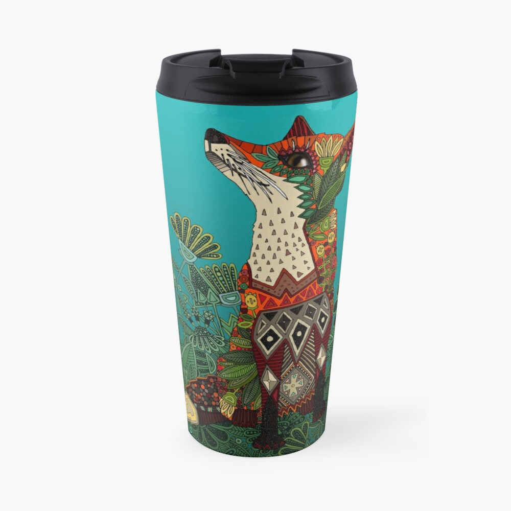 floral fox Travel Mug